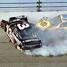 Dale Earnhardt Sr. died in a crash on the last lap of the 2001 Daytona 500.