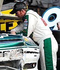 A wreck in practice means Dale Earnhardt Jr. will start at the back of the field in the Daytona 500.